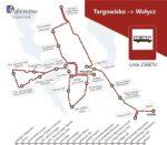 Trasa linii Targowisko - Wałycz