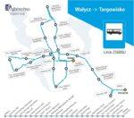 Trasa linii Wąbrzeźno - Targowisko